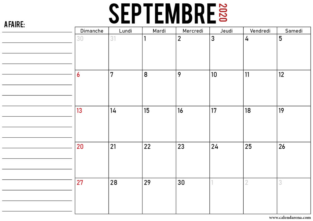 calendrier septembre 2020_notes