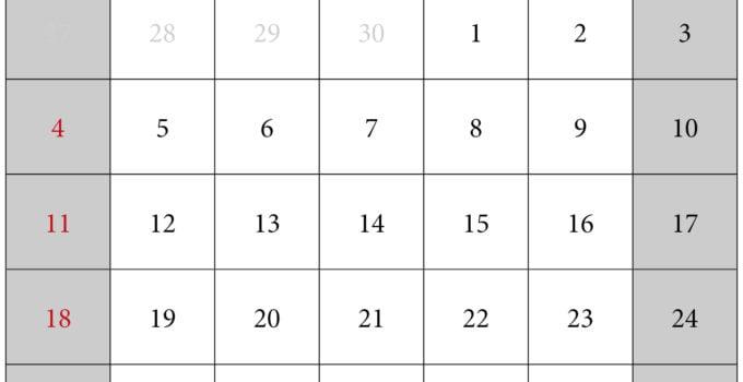 Calendario mes de octubre 2020