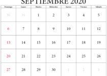 calendario de septiembre 2020