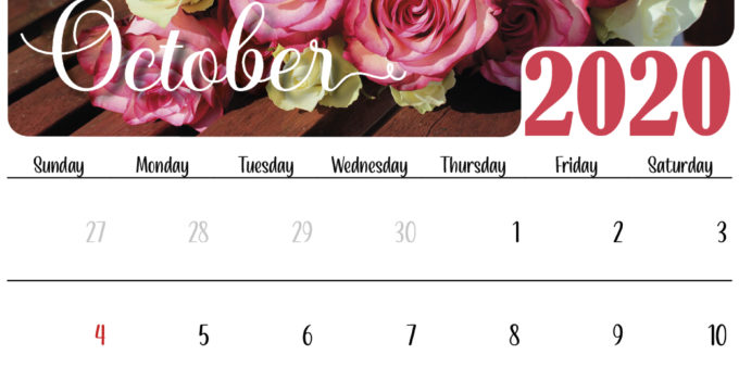 floral october 2020 calendars