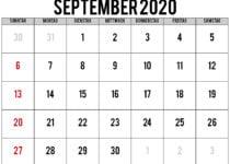 kalender 2020 september
