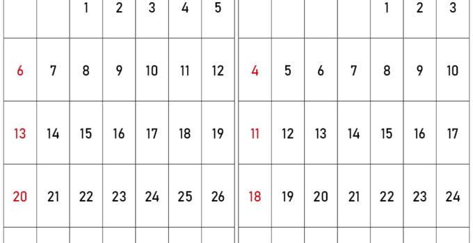 Kalender september oktober 2020