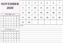 kalender 2020 oktober november dezember