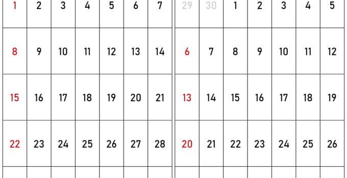 november and december 2020 calendar