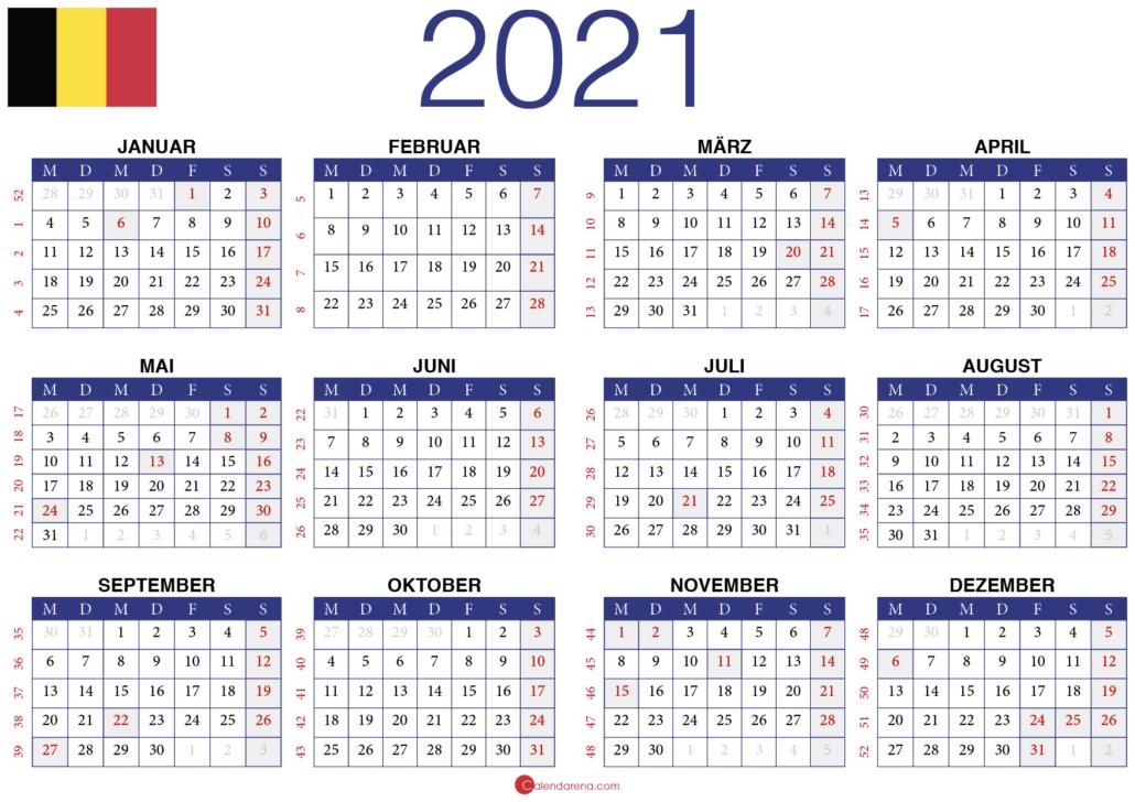 2021 Kalender BE