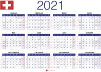 Jahreskalender 2021 Schweiz