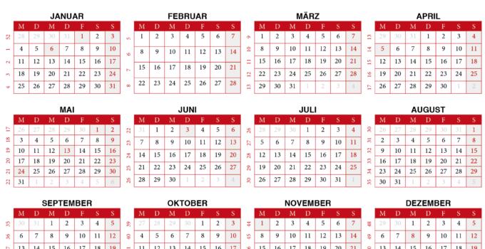 2021 Kalender - Calendarena