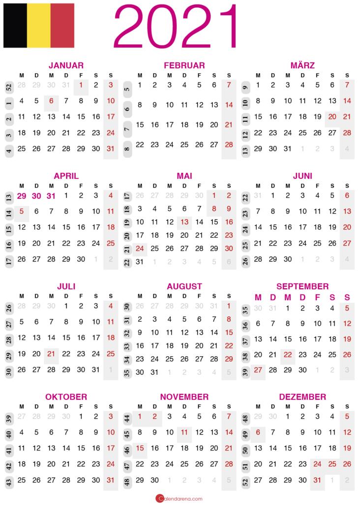 kalender 2021 zum ausdrucken BE2