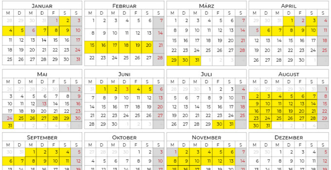 Kalender 2021 Bayern Ferien Calendarena