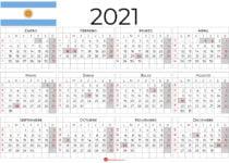calendario 2021 argentina