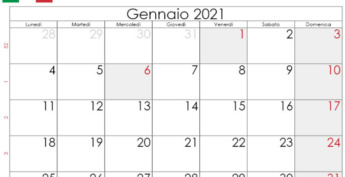 Calendario gennaio 2021 da stampare_2