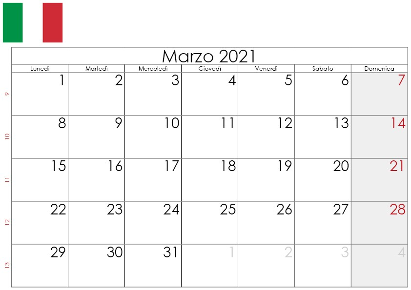 Calendario marzo 2021 da stampare2