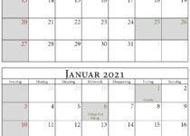 Kalender dezember 2020 januar 2021 hochformat
