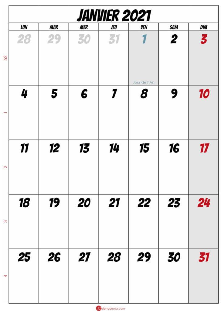 calendrier de janvier 2021_portrait