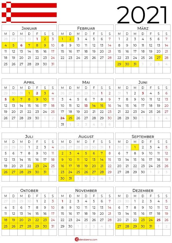 kalender 2021 Bremen hochformat