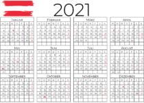 kalender 2021 österreich 2
