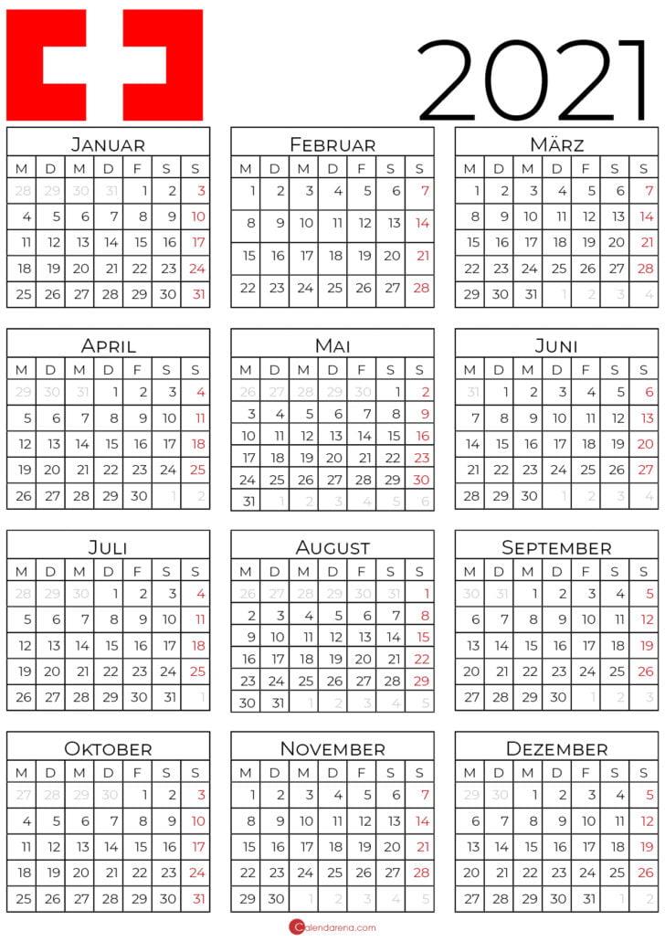 kalender 2021 schweiz