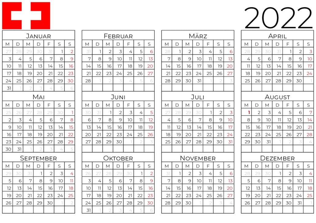 kalender 2022 schweiz_2