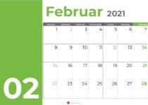 kalender februar 2021_green