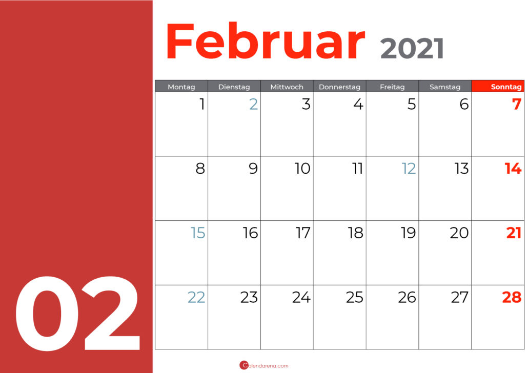 kalender februar 2021_orange