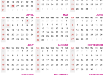 2021 calendar with public holidays
