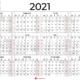 Kalender 2021-Årskalender för 2021 inklusive veckonummer 🇸🇪
