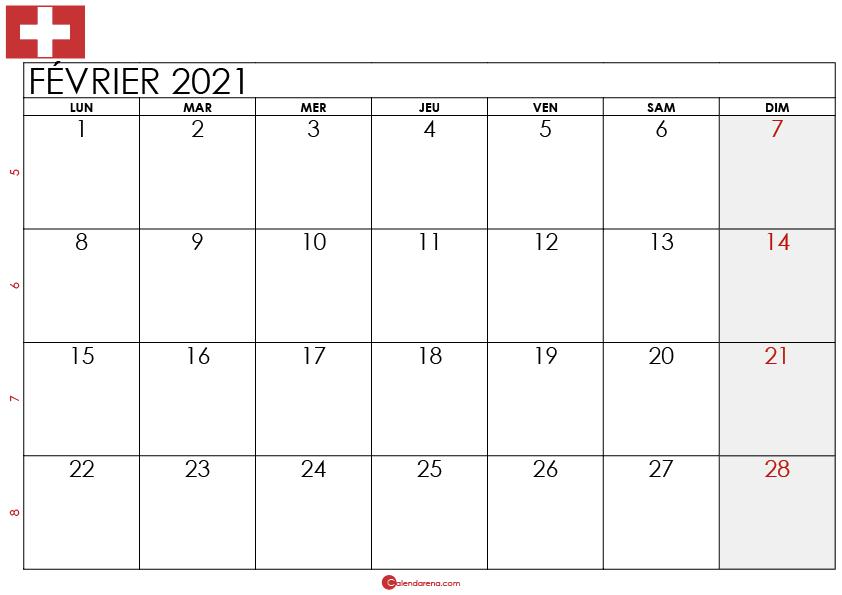 Calendrier février 2021 suisse2