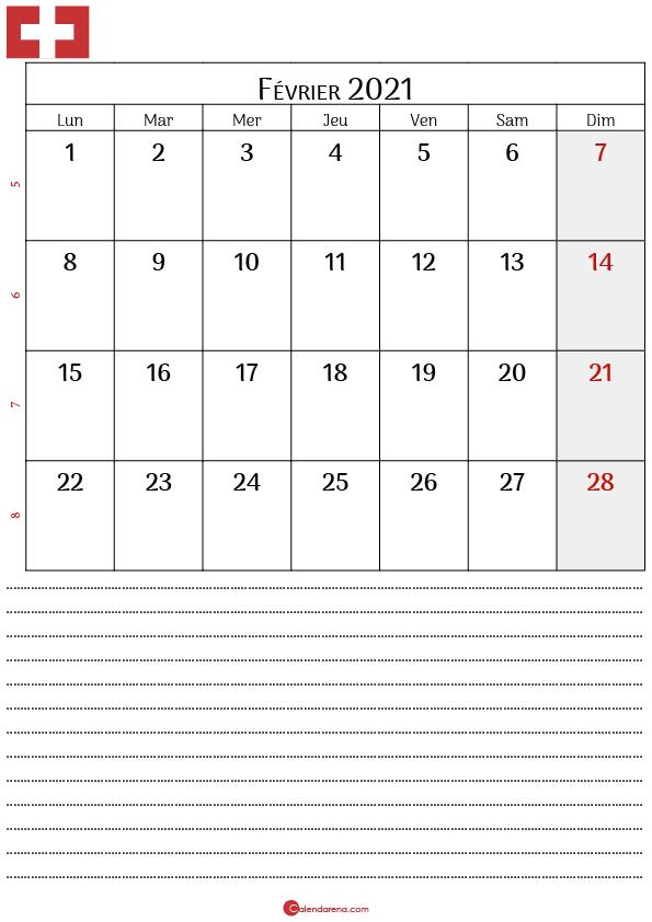 Calendrier fevrier 2021 suisse4