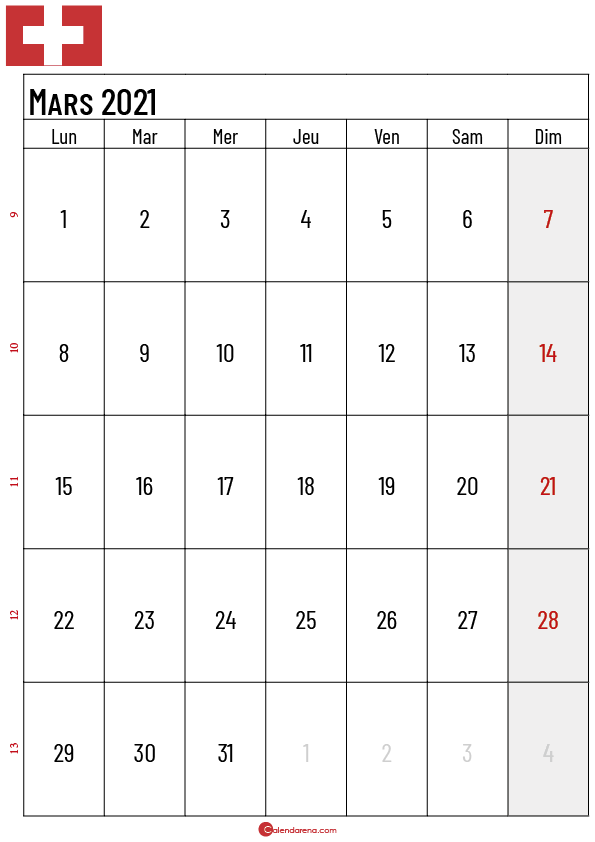 Calendrier mars 2021 suisse3