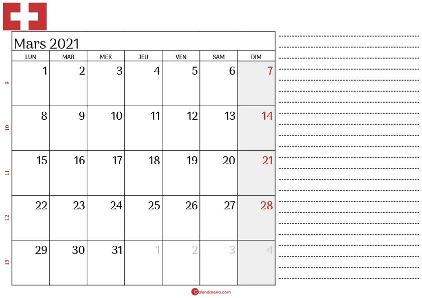 Calendrier mars 2021 suisse_note