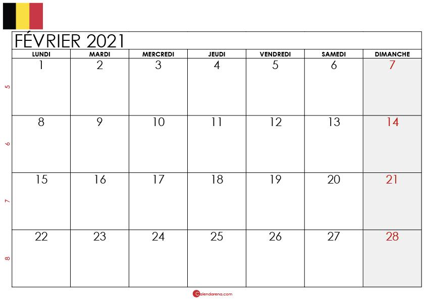 calendrier février 2021 belgique_3