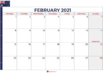 february 2021 calendar australia