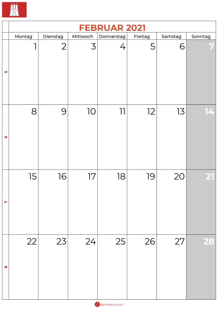 kalender februar 2021 hamburg