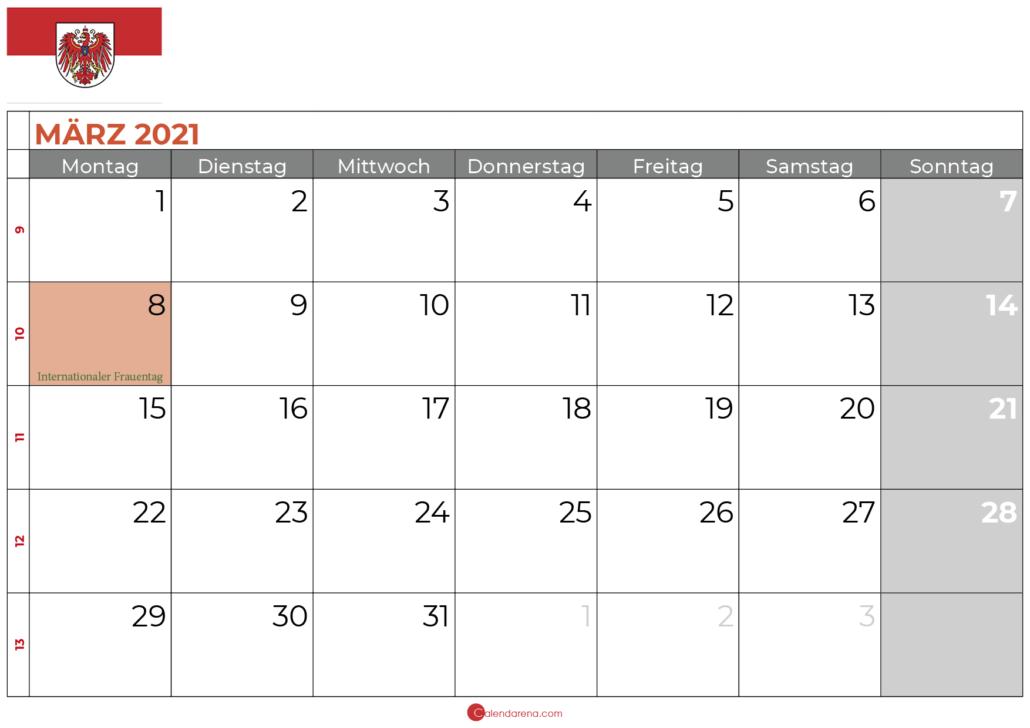 kalender marz 2021 brandenburg