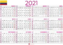 Calendario 2021 colombia retrato
