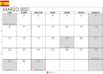 Calendario marzo 2021 España