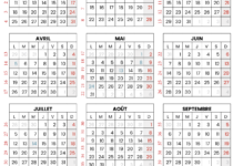 calendrier 2021 gratuit