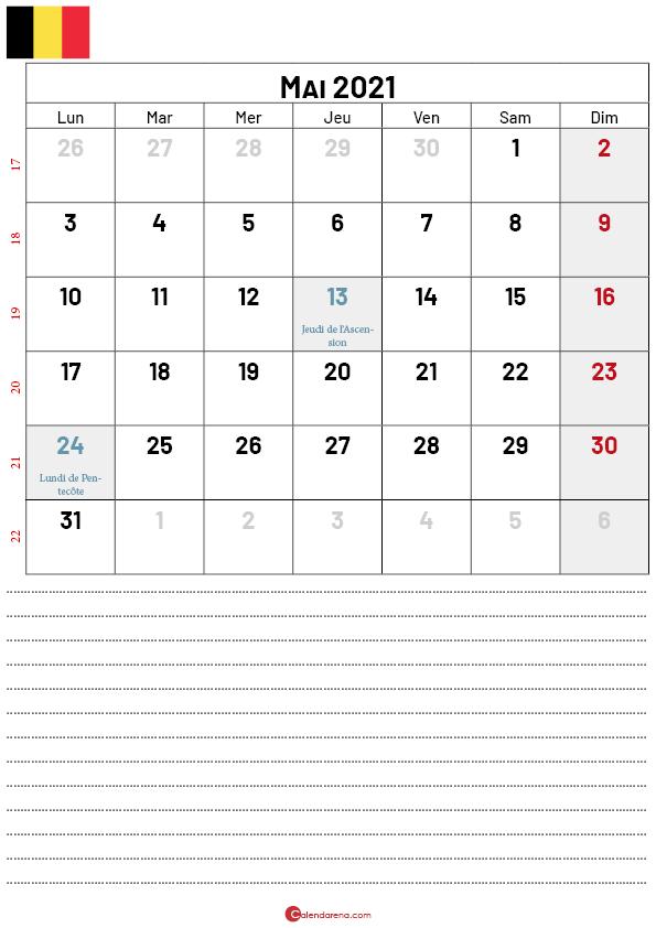 calendrier mai 2021 belgique-p2
