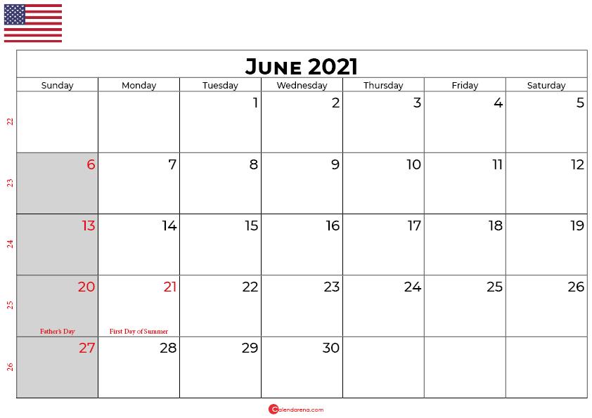 june 2021 calendar usa
