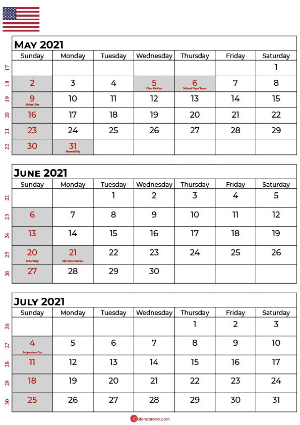 may june july 2021 calendar