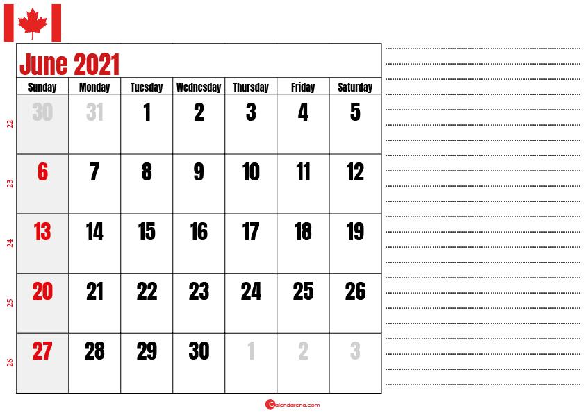 calendar 2021 june notes_canada