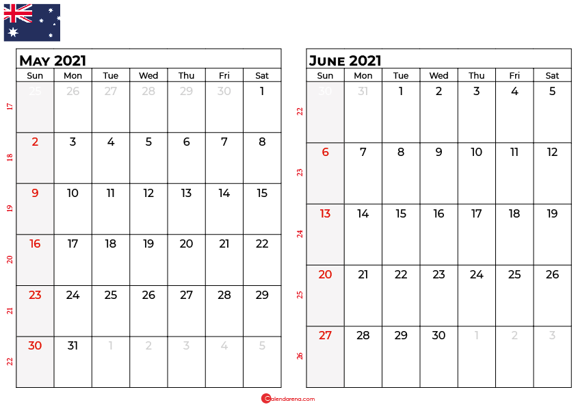 calendar may june 2021