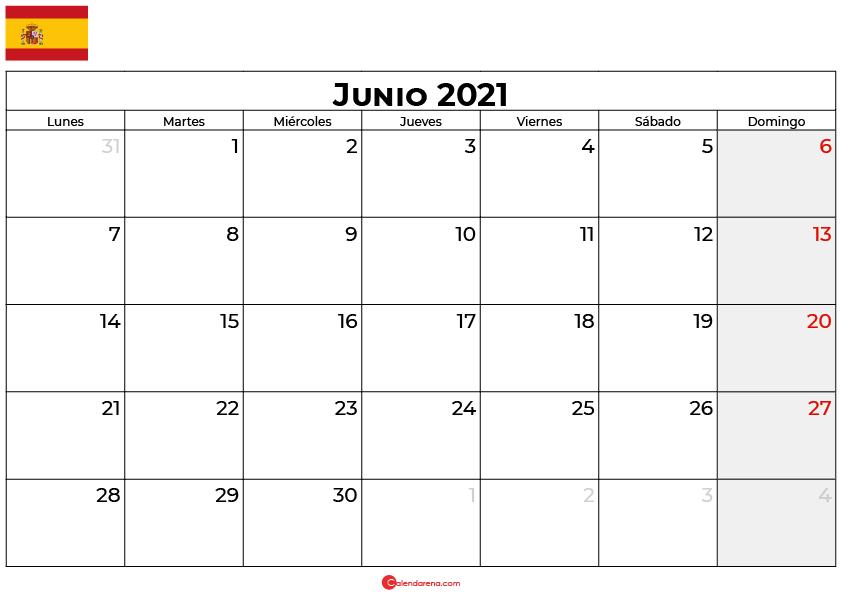 calendario 2021 junio espana