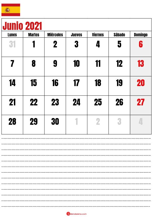 calendario 2021 junio espana2