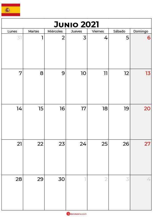 calendario junio 2021 espana