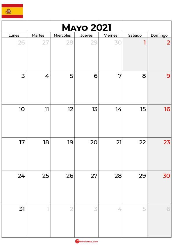 calendario mayo 2021 espana