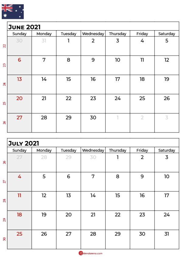 june july 2021 calendar