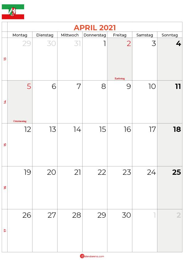 2021-april-kalender-Nordrhein-Westfalen
