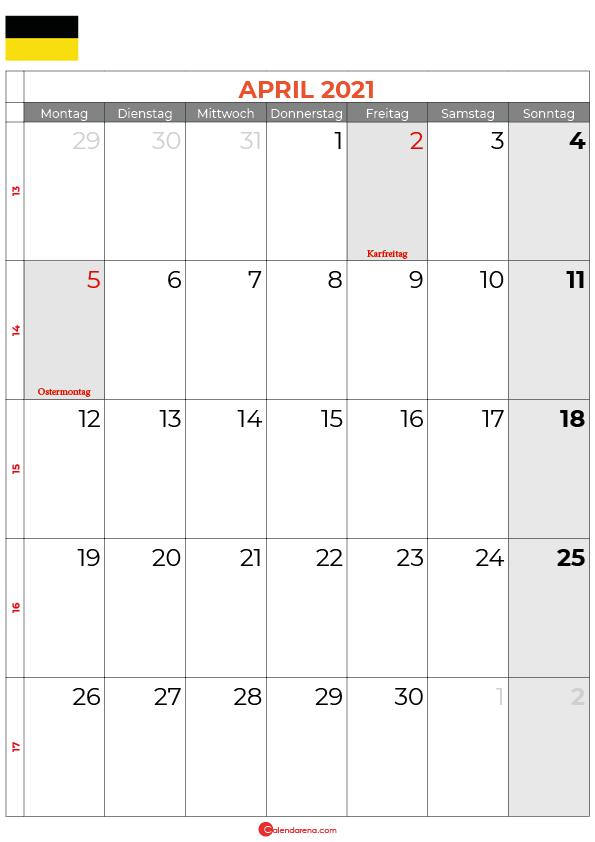 Kalender-april-2021-Baden-Württemberg