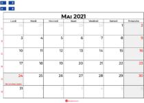 calendrier mai 2021 québec canada